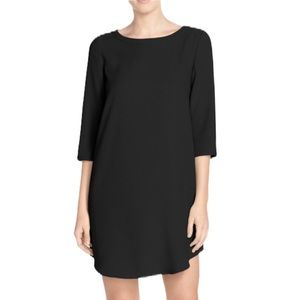 BB Dakota Black Shift Dress w/ 3/4 Length Sleeves
